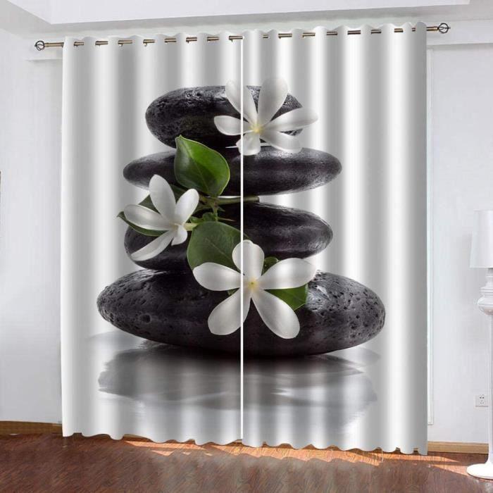 DOUBLE RIDEAUX OO Salon Rideaux Salon Zen 675x240cm Rideau Voilage Occultant Thermiques Opaque Moderne Lot de 2 deacutecorative 429