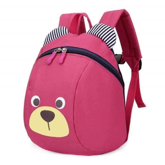 Mini Sac à dos école Maternelle Enfant Bébé Filles tout-petit Sac Garçons Kindergarten Backpack Toddler avec sangles de sécurité