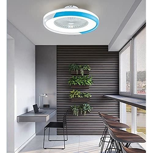YSDNI LED Fan Plafonnier,dimmable Ventilateur Au Plafond avec Lampe, Contrôle App Télécommande Lumière Et Vitesse Réglables,po,435