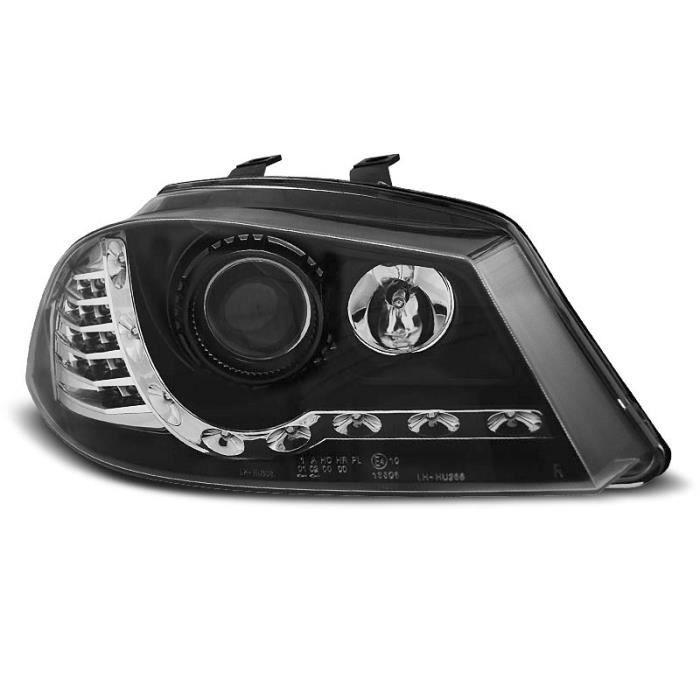 Paire de feux phares Seat Ibiza 6L 02-08 Daylight led noir (E28)