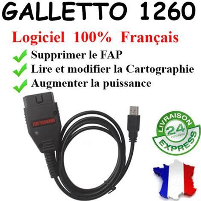 Cable Interface EOBD2 Flasher GALLETTO 1260 by Mister Diagnostic®