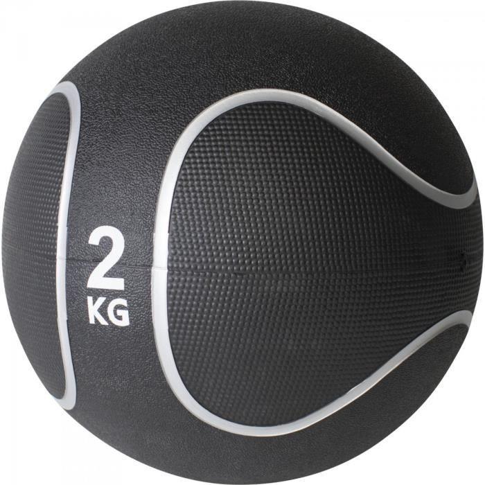 Gorilla Sports - Médecine ball style noir-gris de 1kg à 10kg - 2 KG