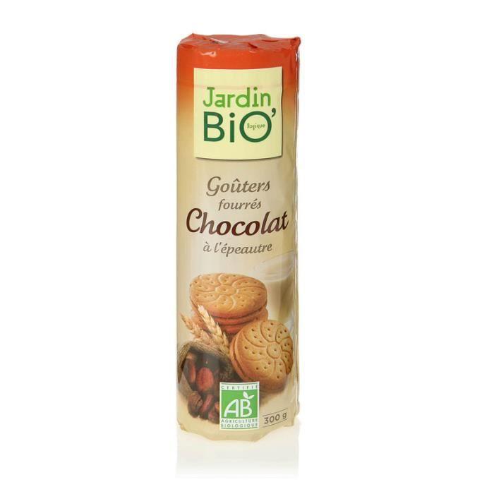 Goûters fourrés au chocolat Sachet de biscuits fourrés Jardin Bio