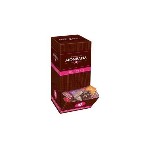 Carrés de chocolat Lait Cereales Monbana (X200) U