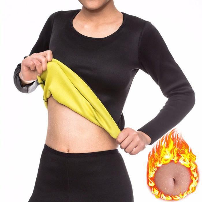 9pcs Femmes Sudation Minceur Gilet pour Perte de Poids en Néoprène Sauna Sports Haut