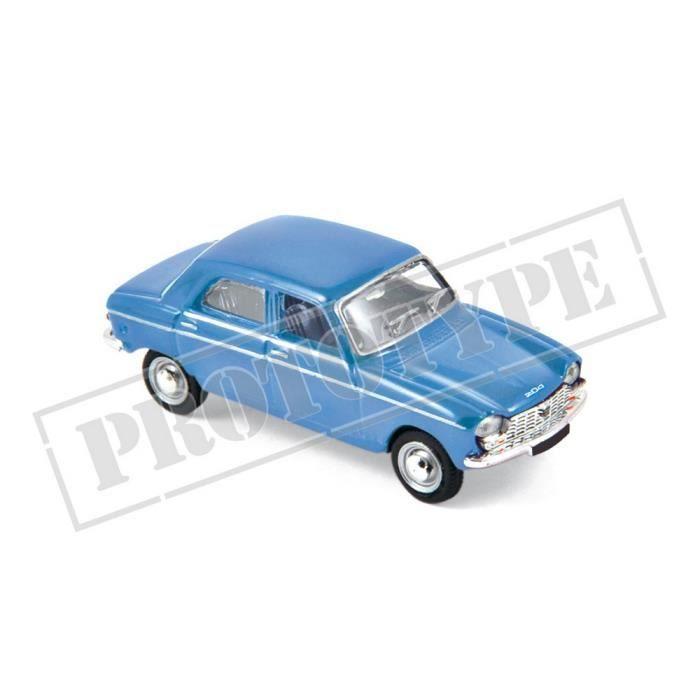 Véhicule Miniature assemble - Peugeot 204 Bleu Pervenche 1966 1-87 Norev
