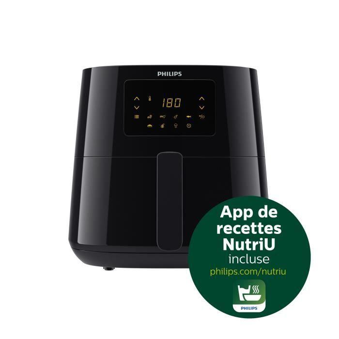 PHILIPS HD9270/90 - Airfryer Essential XL - Friteuse 1,2kg - Technologie Rapid Air - Interface digital - 7 préréglages - Noir