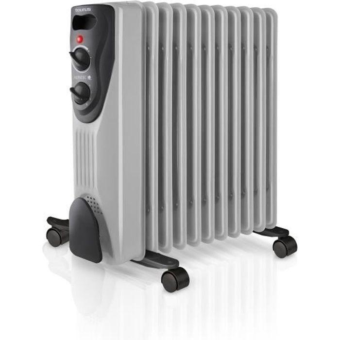 Radiateur à bain d'huile DAKAR 2300 W gris et noir