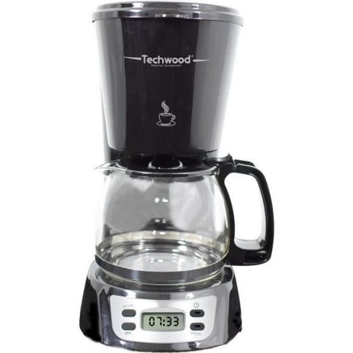TECHWOOD TCA-846 Cafetière filtre programmable
