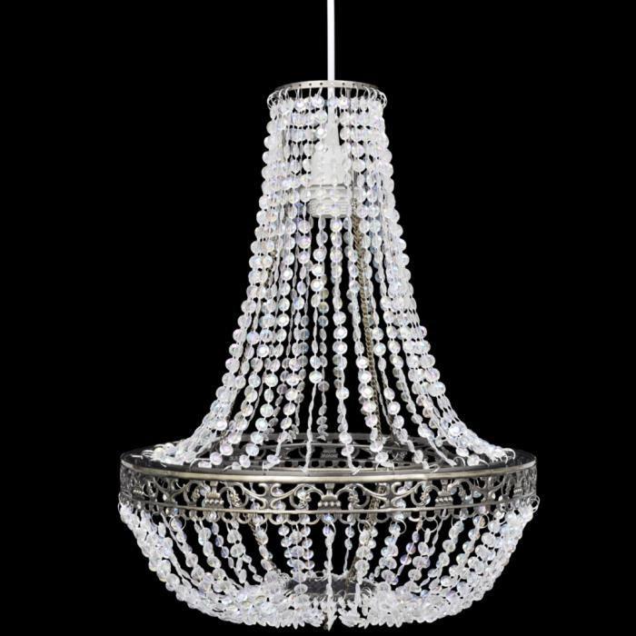 Lustre suspension en Cristal 36,5 x 46 cm Lampe classique élégant pour foyer salle à manger salon ou chambre