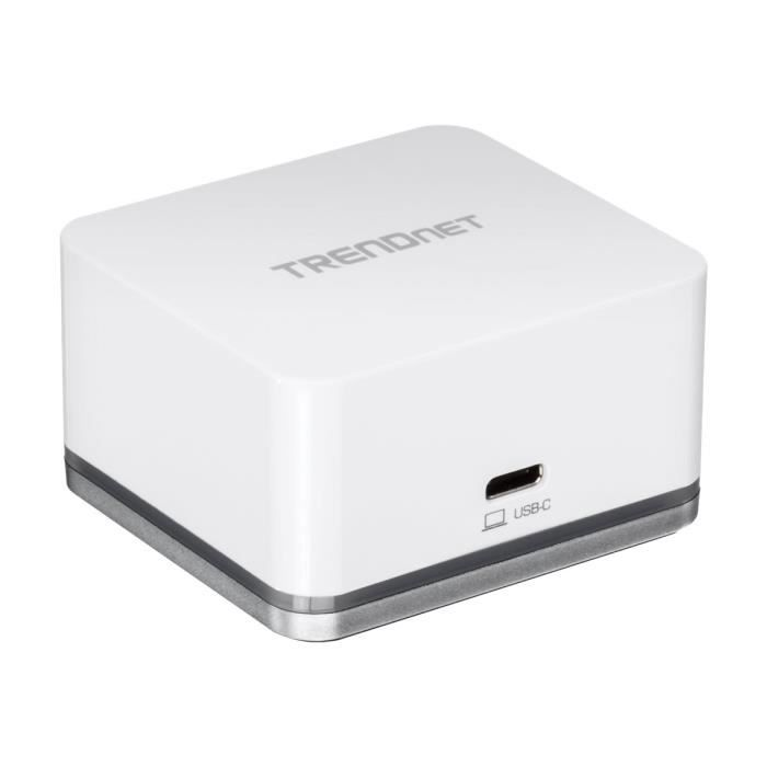 TRENDNET Station d'accueil TUC-DS1 USB Type C pour Notebook/Smartphone - 18,20 W - 4 x Ports USB - 2 x USB 2.0 - 1 xUSB 3.0