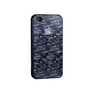 WE Coque de protection et film protecteur iPhone 4 - Modif mosaïque