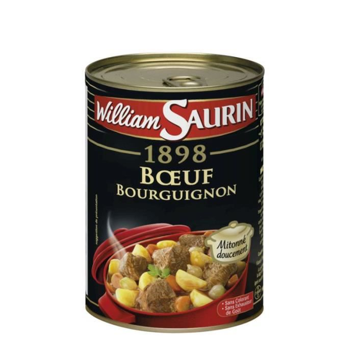 WILLIAM SAURIN Boeuf bourguignon - 400g