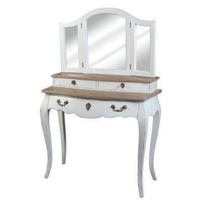 coiffeuse baroque blanc antique achat vente coiffeuse coiffeuse baroque blanc ant cdiscount. Black Bedroom Furniture Sets. Home Design Ideas