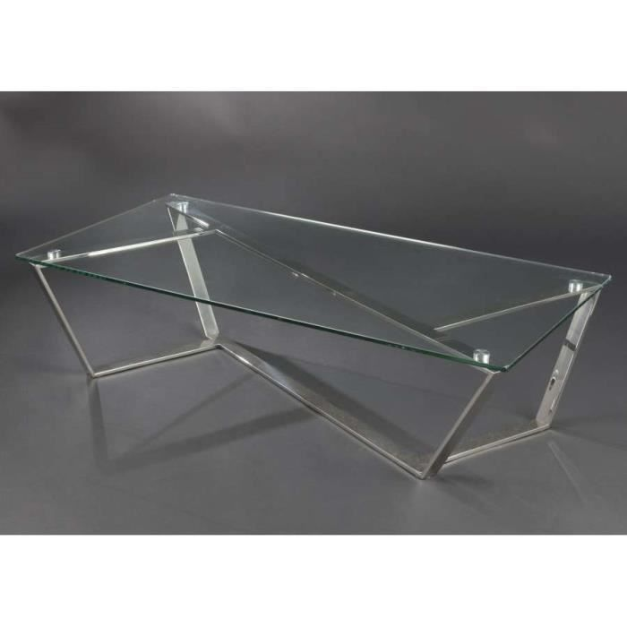 Table basse en verre design dimensions haute achat - Table basse transformable en table haute ...