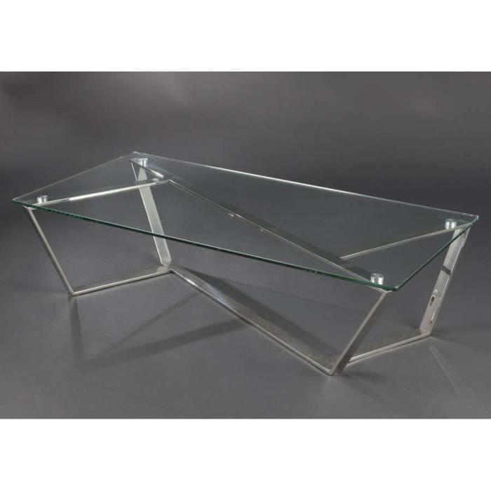 Table basse en verre design Dimensions : Haute... - Achat ...