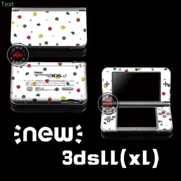 skin stickers pour new nintendo 3ds xl ll animal crossing. Black Bedroom Furniture Sets. Home Design Ideas