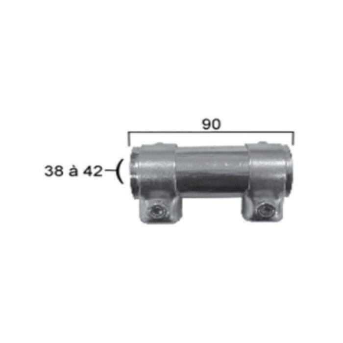 Bride de pot d/'échappement universel connecteur Ø 36 mm x 95 mm