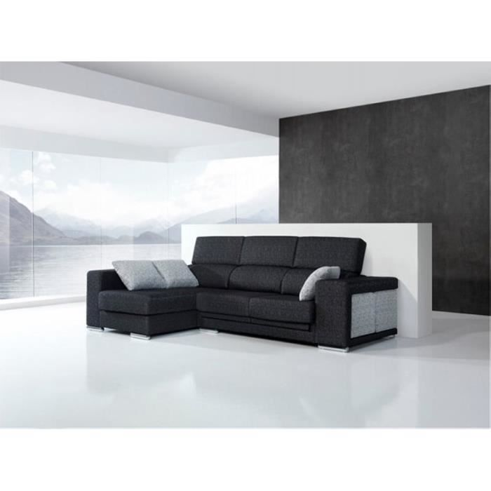 canap d 39 angle gauche tissu lounge meuble house achat. Black Bedroom Furniture Sets. Home Design Ideas