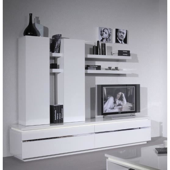 ensemble meuble tv design elina l 220 x p 50 x h 170 cm achat vente meuble tv ensemble. Black Bedroom Furniture Sets. Home Design Ideas