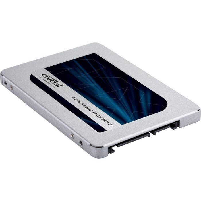 DISQUE DUR SSD Crucial SSD interne MX500 (500Go, 3D NAND, SATA, 2
