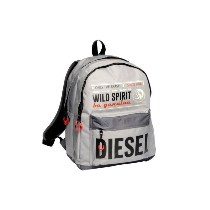 diesel sac dos 2 compartiments collection wild spirit gris achat vente sac dos diesel. Black Bedroom Furniture Sets. Home Design Ideas