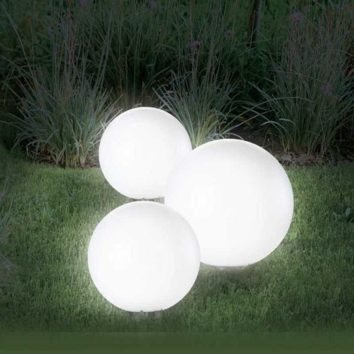 Lampe Solaire LED Lampe Boule de Jardin Multicolore ou Blanc Chaud 10 20 30cm