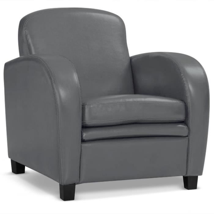 fauteuil club dameo gris achat vente fauteuil gris cdiscount. Black Bedroom Furniture Sets. Home Design Ideas