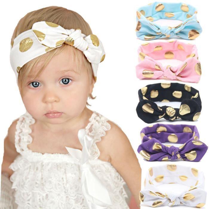 Bébé Fille Lot de 3 bandeaux différents modèles tous avec extensible Bandes