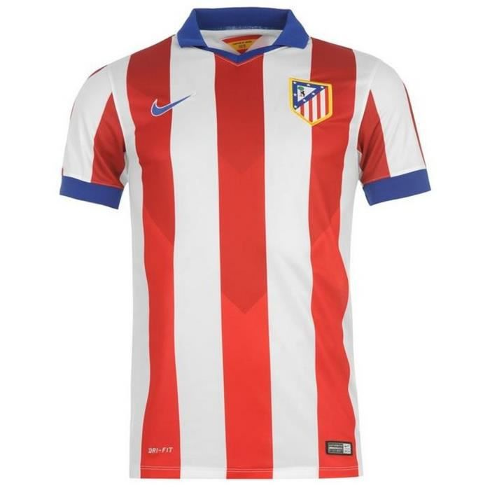 nike maillot officiel atletico madrid 2014 2015 blanc rouge et bleu achat vente maillot. Black Bedroom Furniture Sets. Home Design Ideas