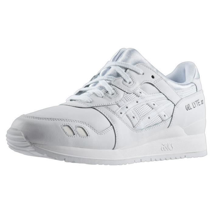 CHAUSSURES ASICS GEL LYTE III WHITE Blanc - Achat   Vente basket ... ecb57d991388