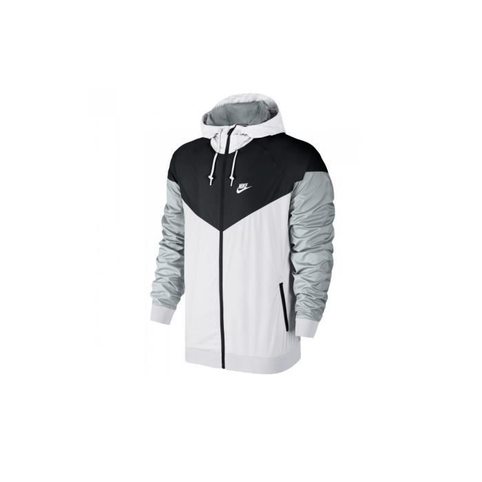 veste coupe vent nike windrunner 727324 101 blanc achat vente poncho sport les soldes. Black Bedroom Furniture Sets. Home Design Ideas
