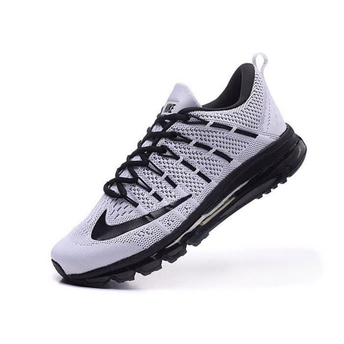 nike air max 2016 hommes chaussures de running de sport baskets blanc er noir tu achat vente. Black Bedroom Furniture Sets. Home Design Ideas