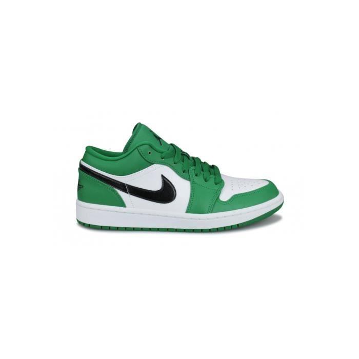 Basket Air Jordan 1 Low Vert 553558-301 Vert - Cdiscount Chaussures