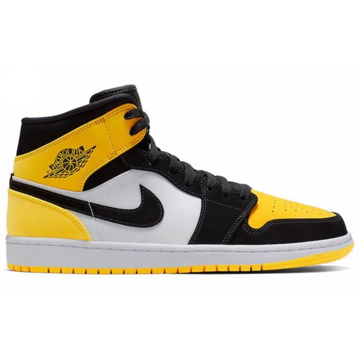 Basket Nike Air Jordan 1 Mid SE Yellow Toe Homme Femme ...