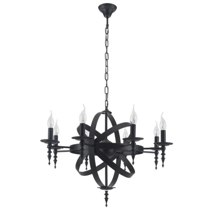 paris prix lampe suspension moderne baroque 55cm noir achat vente paris prix lampe. Black Bedroom Furniture Sets. Home Design Ideas