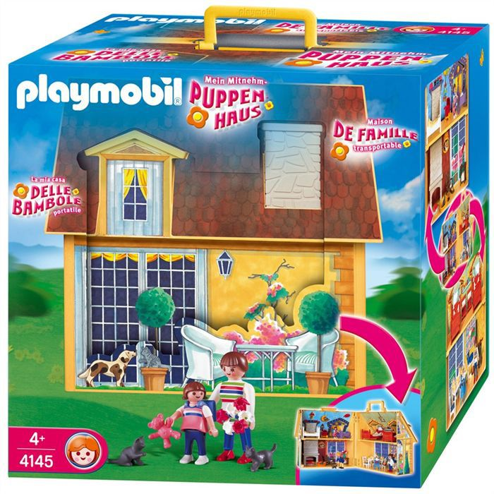 playmobil maison transportable achat vente univers. Black Bedroom Furniture Sets. Home Design Ideas