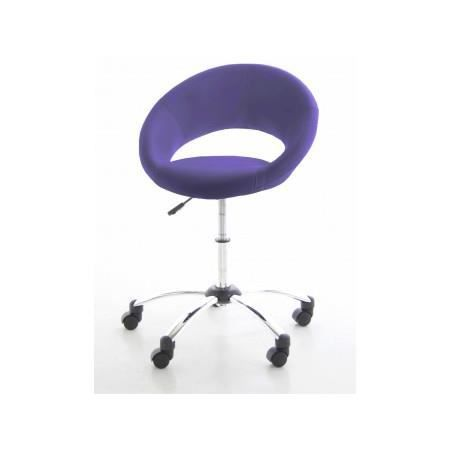 fauteuil roulette lolita violet achat vente fauteuil m tal cdiscount. Black Bedroom Furniture Sets. Home Design Ideas