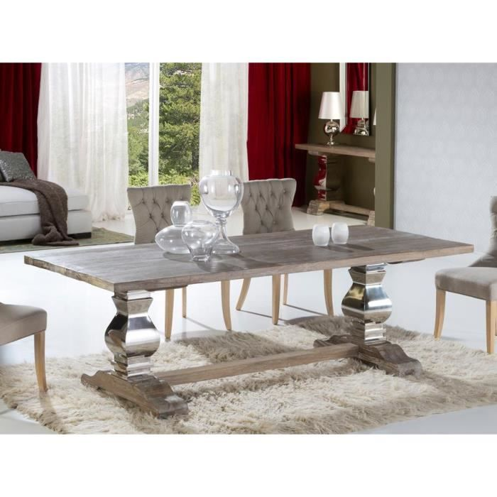table design de salle a manger en bois ancien massif. Black Bedroom Furniture Sets. Home Design Ideas