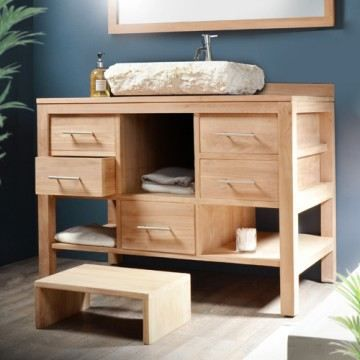 meuble salle de bain en teck galyno solo achat vente. Black Bedroom Furniture Sets. Home Design Ideas