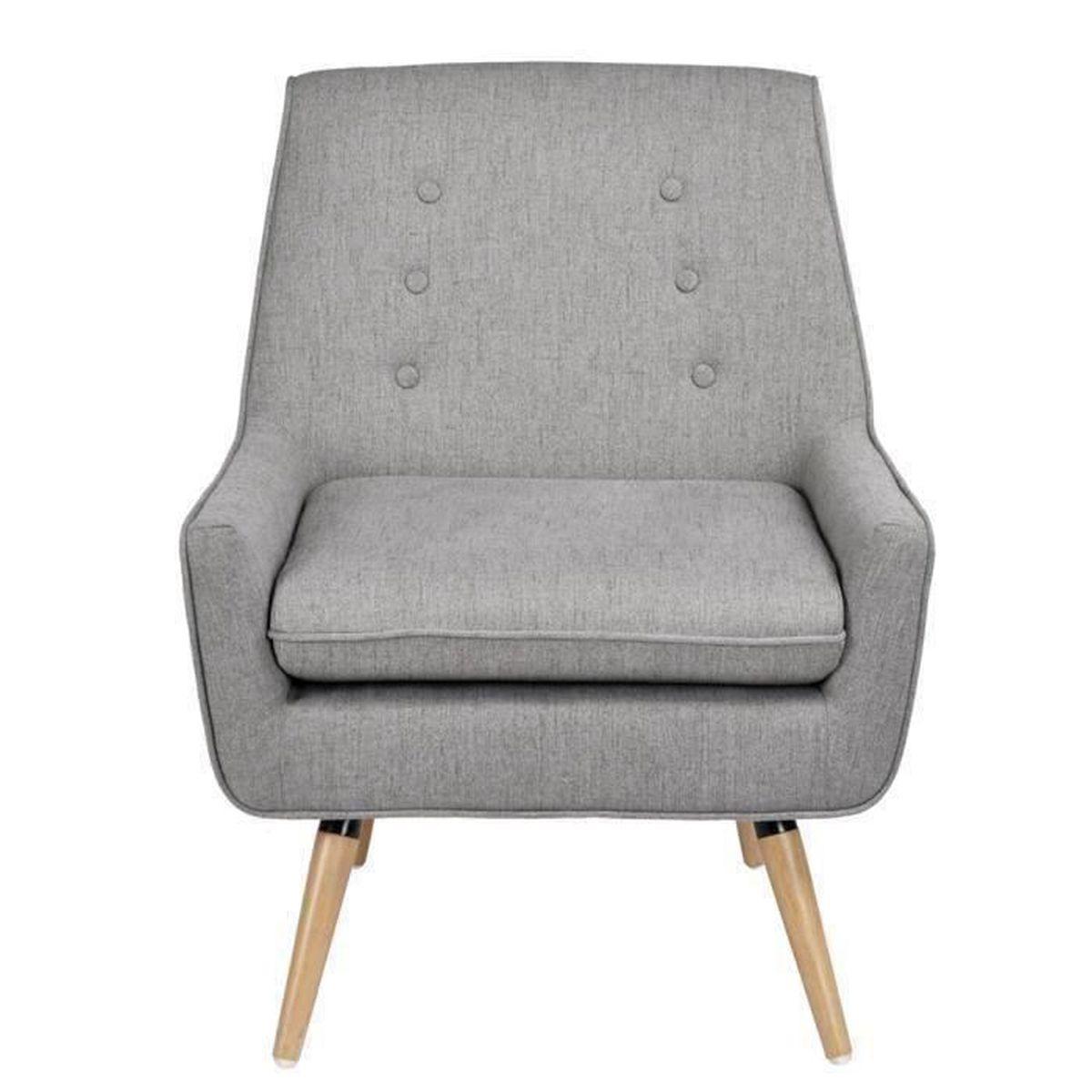 FurnitureR Chaise Chauffeuse Cocktail Scandinave en Tissu et