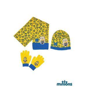 BONNET - CAGOULE LES MINIONS Lot de Bonnet + écharpe + gants - Enfa