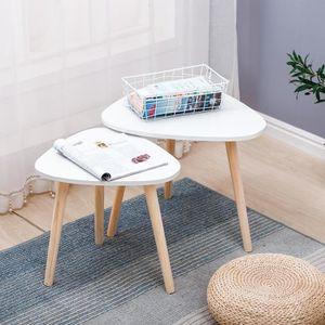 TABLE À MANGER SEULE Lot de 3 Tables Basse ,Tables de Salon avec Pieds