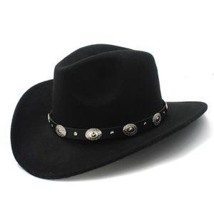 CASQUETTE laine vintage Femme Homme western chapeau de cowbo