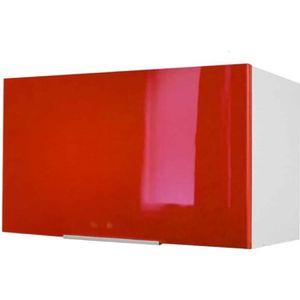 ÉLÉMENTS HAUT Meuble de cuisine haut sur hotte - 60cm - Rouge -