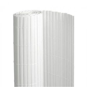 CLÔTURE - GRILLAGE Canisse en PVC blanc - 90% d'occultation - longueu