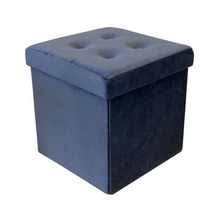 POUF - POIRE COTTON WOOD Pouf Coffre pliable Velours - 35 x 35