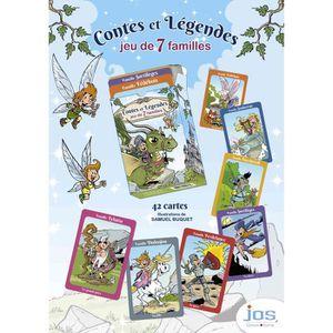 CARTES DE JEU jeu de 7 familles légendes de bretagne