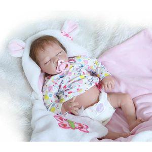POUPÉE 55cm Nouveau Bébé Reborn Poupées Silicone Baby  Ga