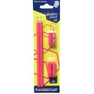 CRAYON GRAPHITE Kit roseSTEADTLER comprenant 2 crayons HB ultra r